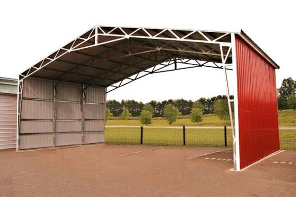 32 - 100 wide clear span building - sold by NW Custom Structures