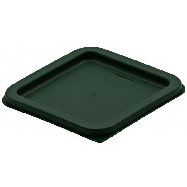 Green Plastic Square Lid for 2 and 4 qt. Food Storage Containers