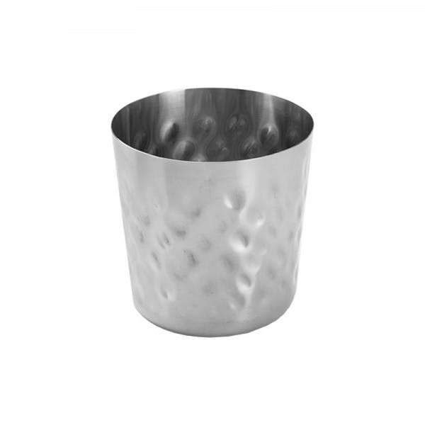Hammered Stainless French Fry Cup