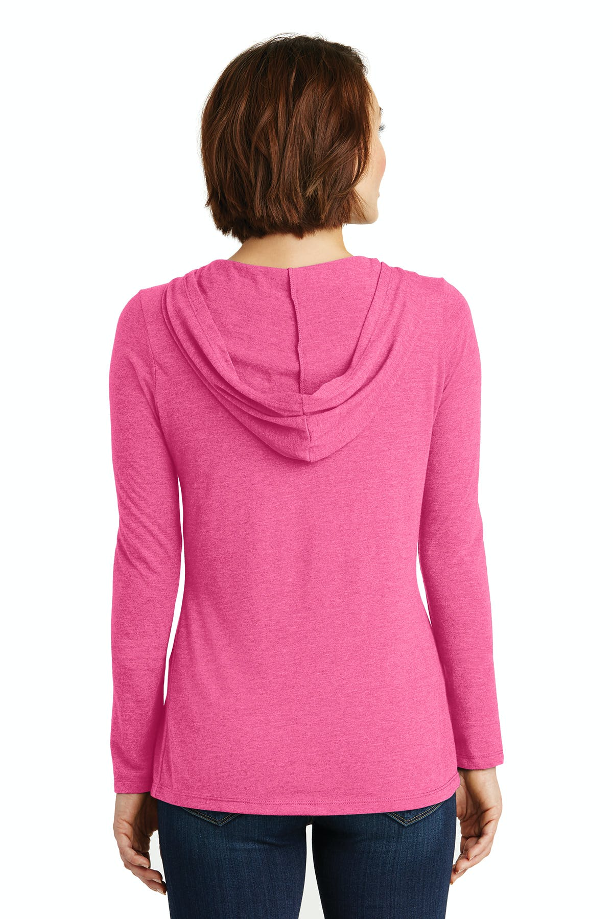 District Made® Ladies Perfect Tri® Long Sleeve Hoodie - sold by PRINT CITY GRAPHICS, INC