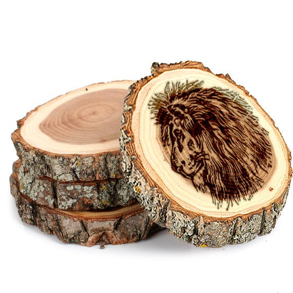 "Tree Bark Coasters, Approximately 4"" Drink coaster sold by CLWstudio"