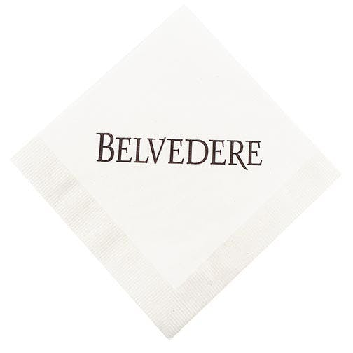 Napkins, 1-Ply White NapkinsAS130BN, White Beverage, Coin Edge Embossing Napkin sold by Distrimatics, USA