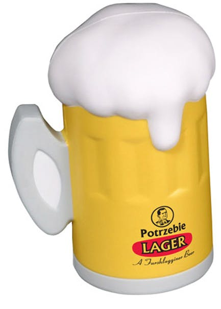 Beer stein shaped stress reliever