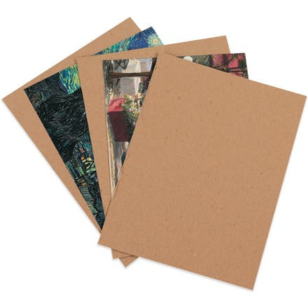 22 Point Chipboard Kraft Pads