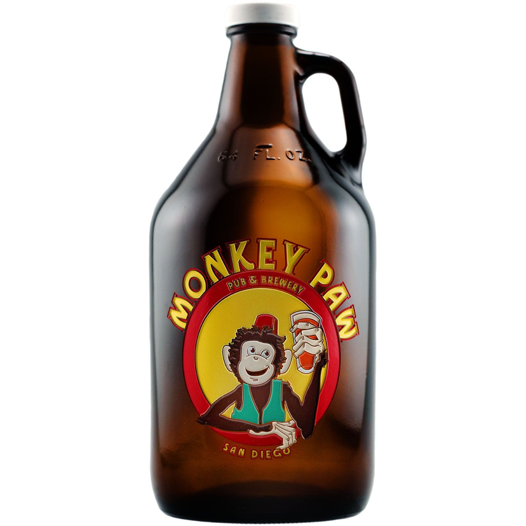 Custom Etched 64 Oz. Beer Growler Jug with Screw Top and 1 Color Fill Growler sold by Ink Splash Promos, LLC