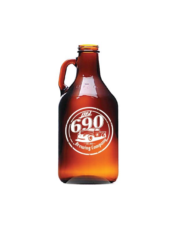 446B - 32 oz. Amber Growler, Screw Cap Growler sold by ARTon Products