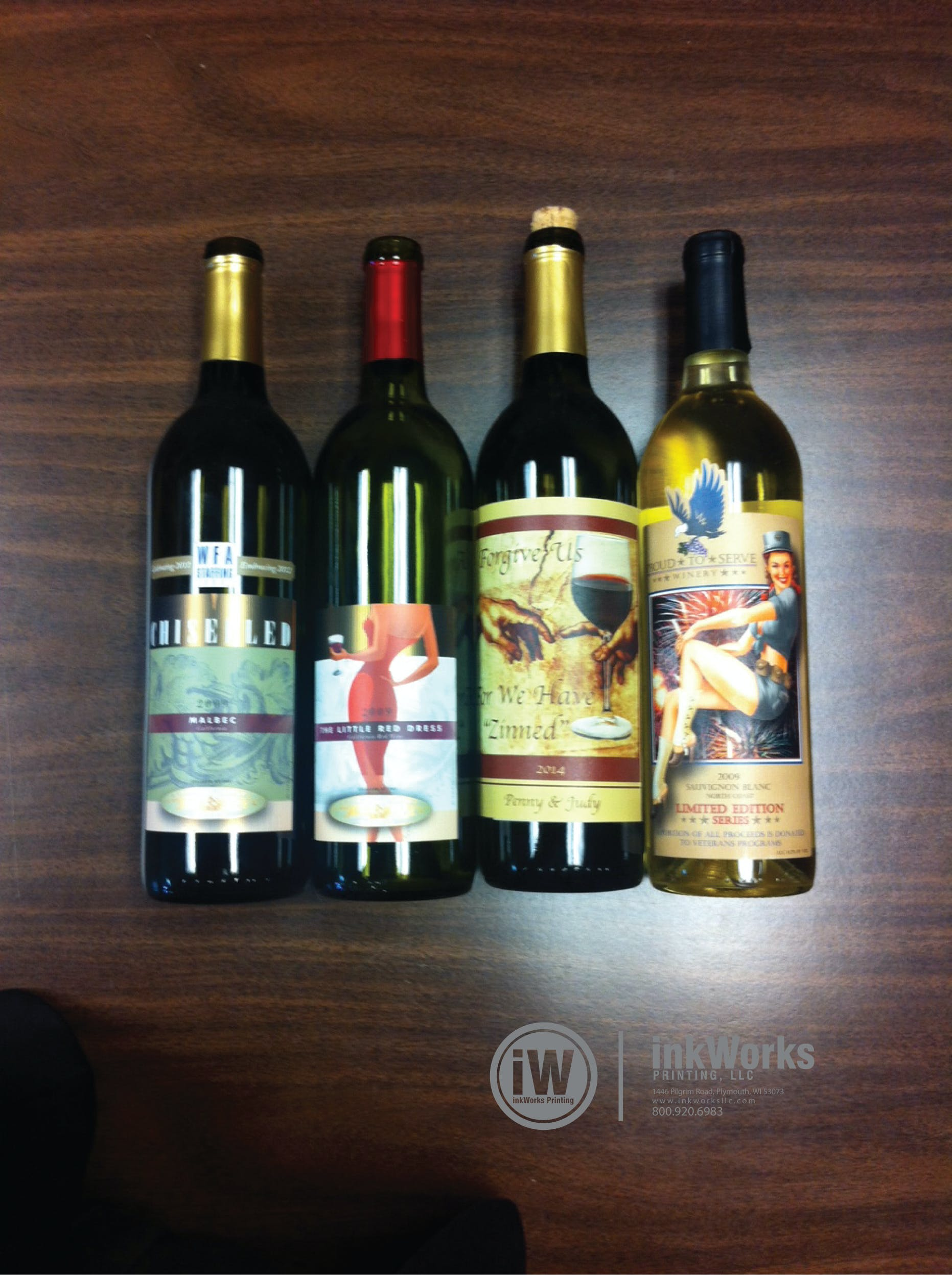 Wine Labels - Metallic and Texture Bottle label sold by InkWorks Printing