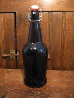 1 liter amber growler Growler sold by Promotional Concepts of Wisconsin