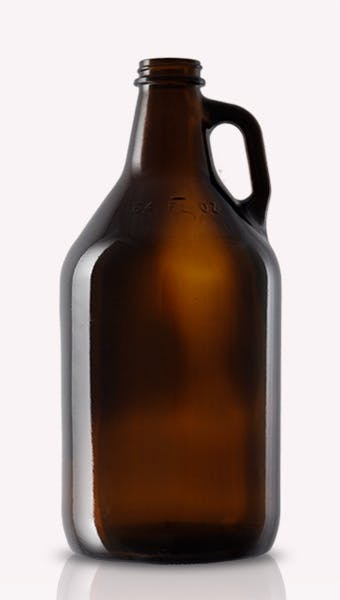 32 oz. Amber Howler Growler sold by Land & Sea Packaging
