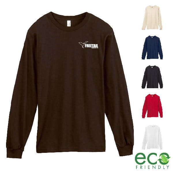 Anvil Organic Cotton Long Sleeve T-Shirt Promotional shirt sold by MicrobrewMarketing.com
