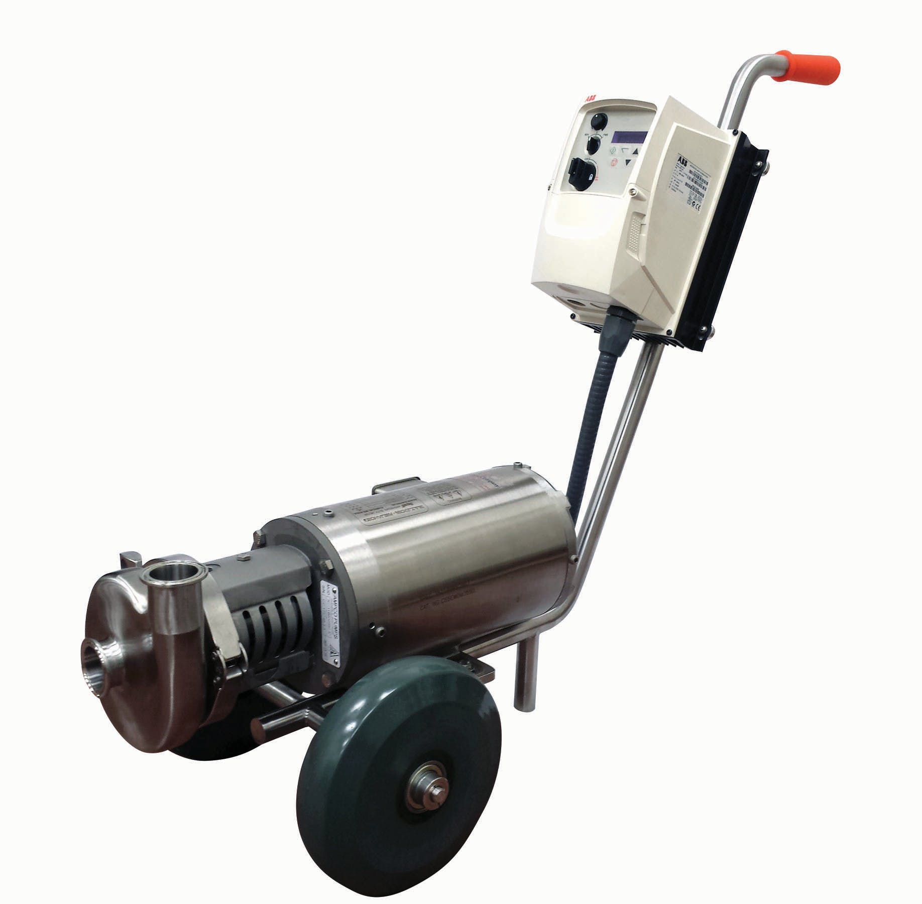Beer and transfer cart  Pump cart sold by Ampco Pumps Co.