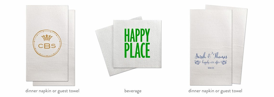 DeVille Beverage/Cocktail & Dinner Napkins & Guest Towels Napkin sold by Cup of Arms