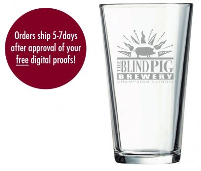 16 Pint Glass Beer glass sold by Prestige Glassware