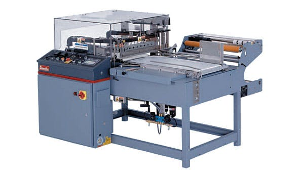 Shanklin A-26A automatic L-Sealer Shrink wrapper sold by Sun Packaging Technologies