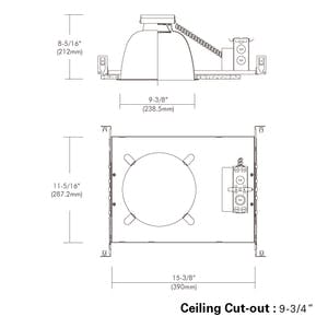 """9"""", Non-IC, Commercial Flat Frame-in Kit Downlight with - sold by RelightDepot.com"""
