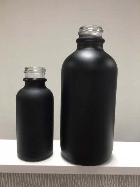 30ML 120ML BLACK MATTE BOSTON ROUND  E-liquid bottle sold by Vapor Packaging