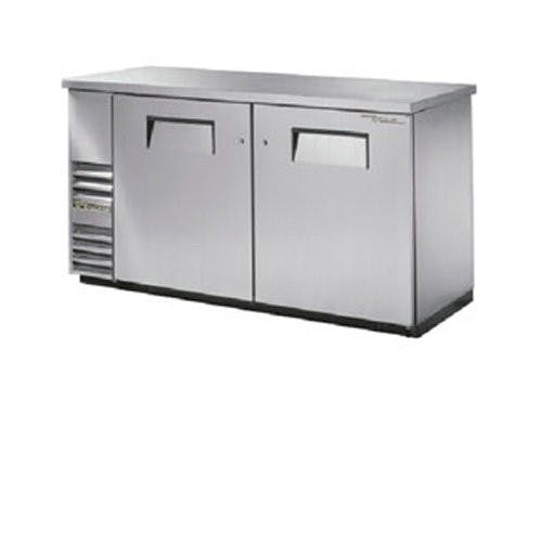 True Manufacturing TBB-24-60-S Back Bar Cooler, 2 Door, Holds 133 6-Packs or 3 Kegs, Stainless Back bar cooler sold by Mission Restaurant Supply