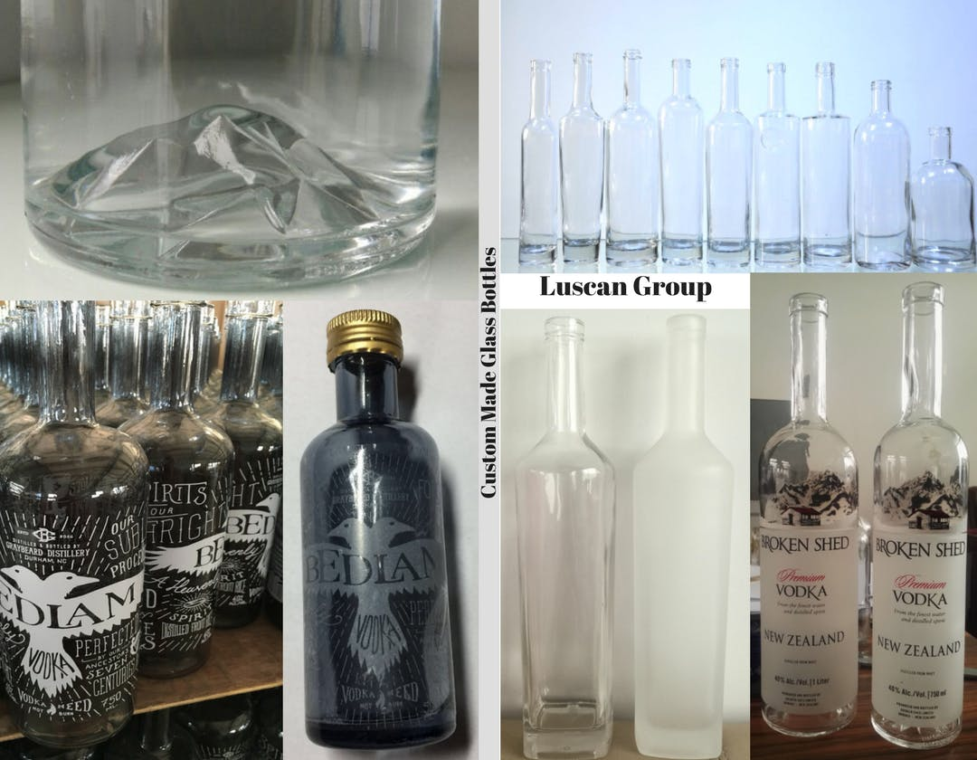Custom Made Glass Bottles 1 Wine bottle sold by Luscan Group
