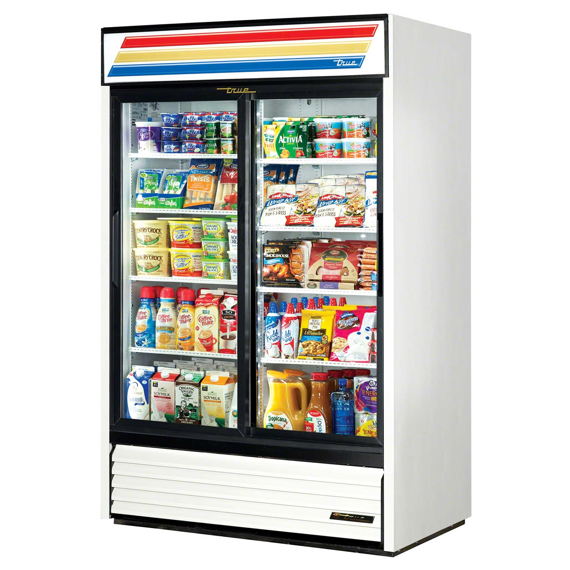 "True - GDM-45-LD 51"" Slide Glass Door Merchandiser Refrigerator LED Commercial refrigerator sold by Food Service Warehouse"
