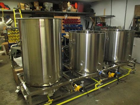 3 5 Barrel Brewing System Direct Fire Electric Brewhouse