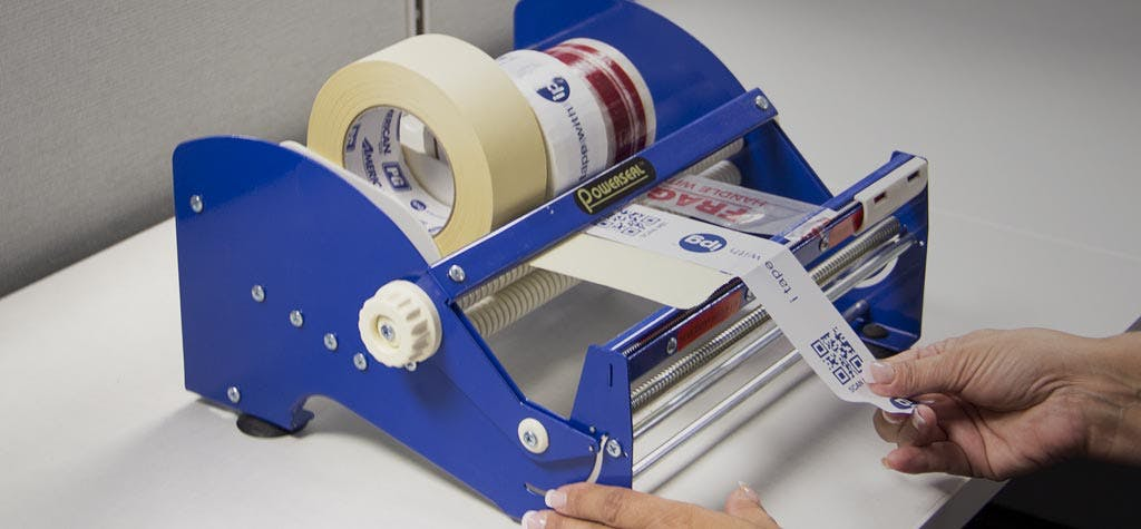 Label Dispensers Label sold by Ameripak, Inc.