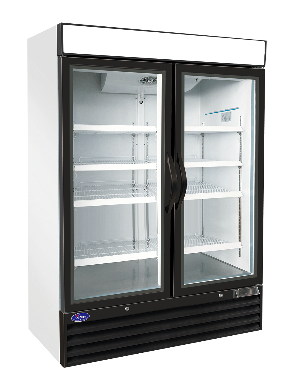 Valpro VP2R-48 - Two Swing Glass Door - 48 cu. ft. Refrigerator