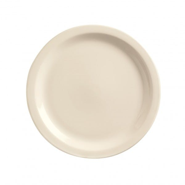 "Kingsmen White 8-1/8"" Cream White Dinner Plate"