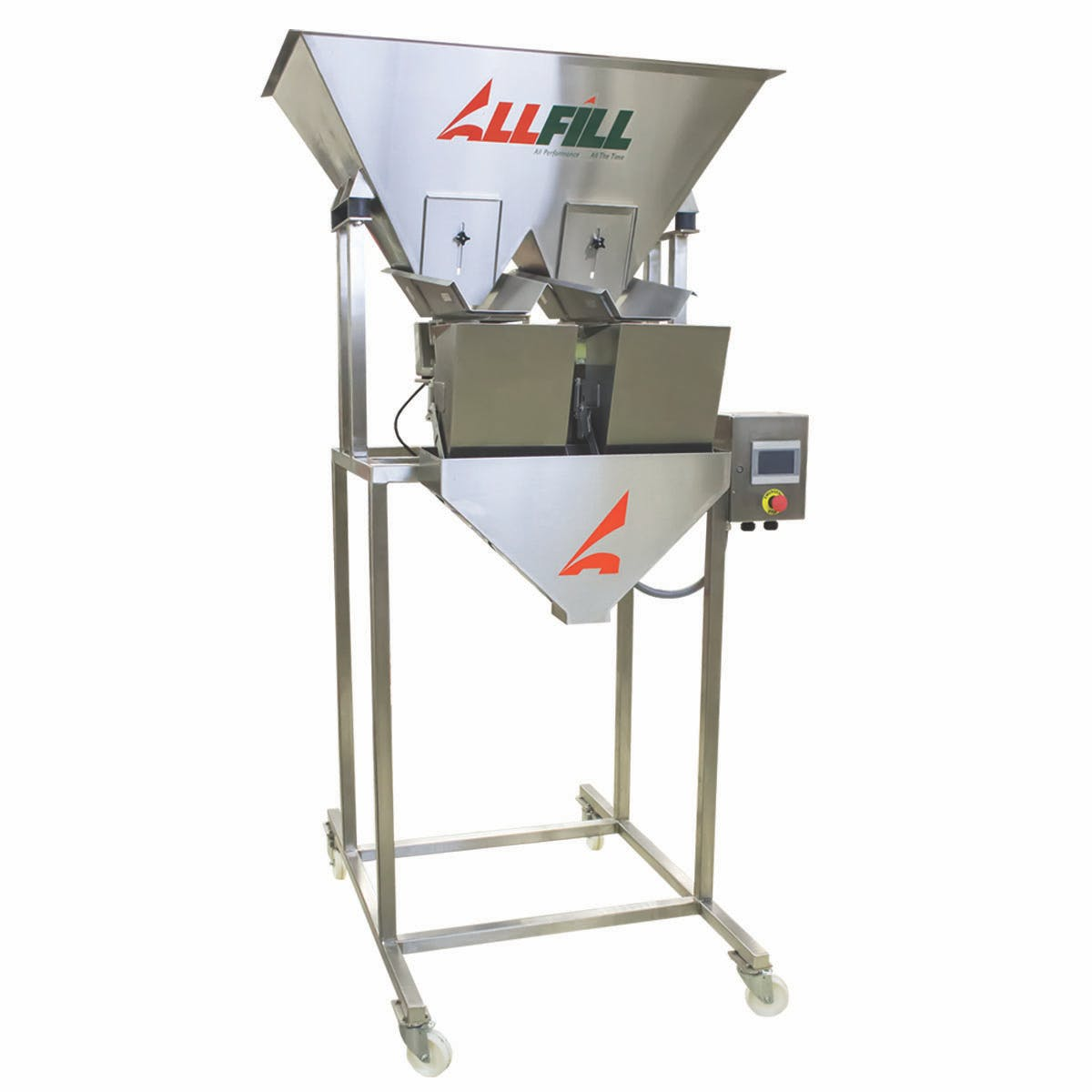 All-Fill Vibratory Filler Scales Net weight filler sold by Package Devices LLC