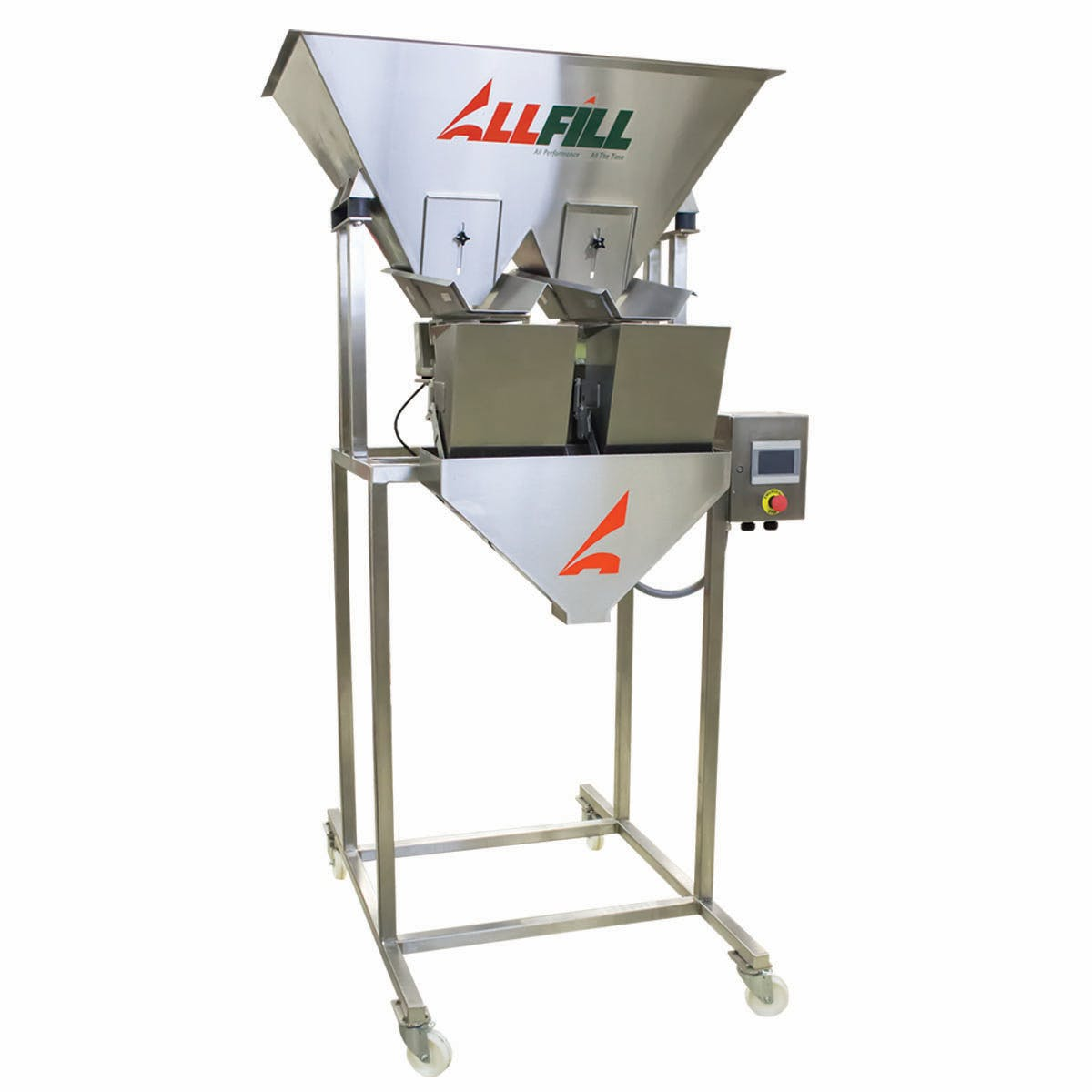 Model VF 200E 2-Lane - All-Fill Vibratory Filler Scales - sold by Package Devices LLC
