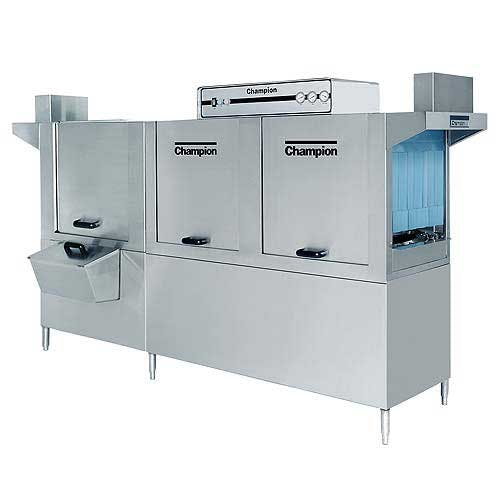 Champion - 120 HDPW 356 Rack/Hr High Temp Conveyor Dishwasher w/ Prewash Commercial dishwasher sold by Food Service Warehouse