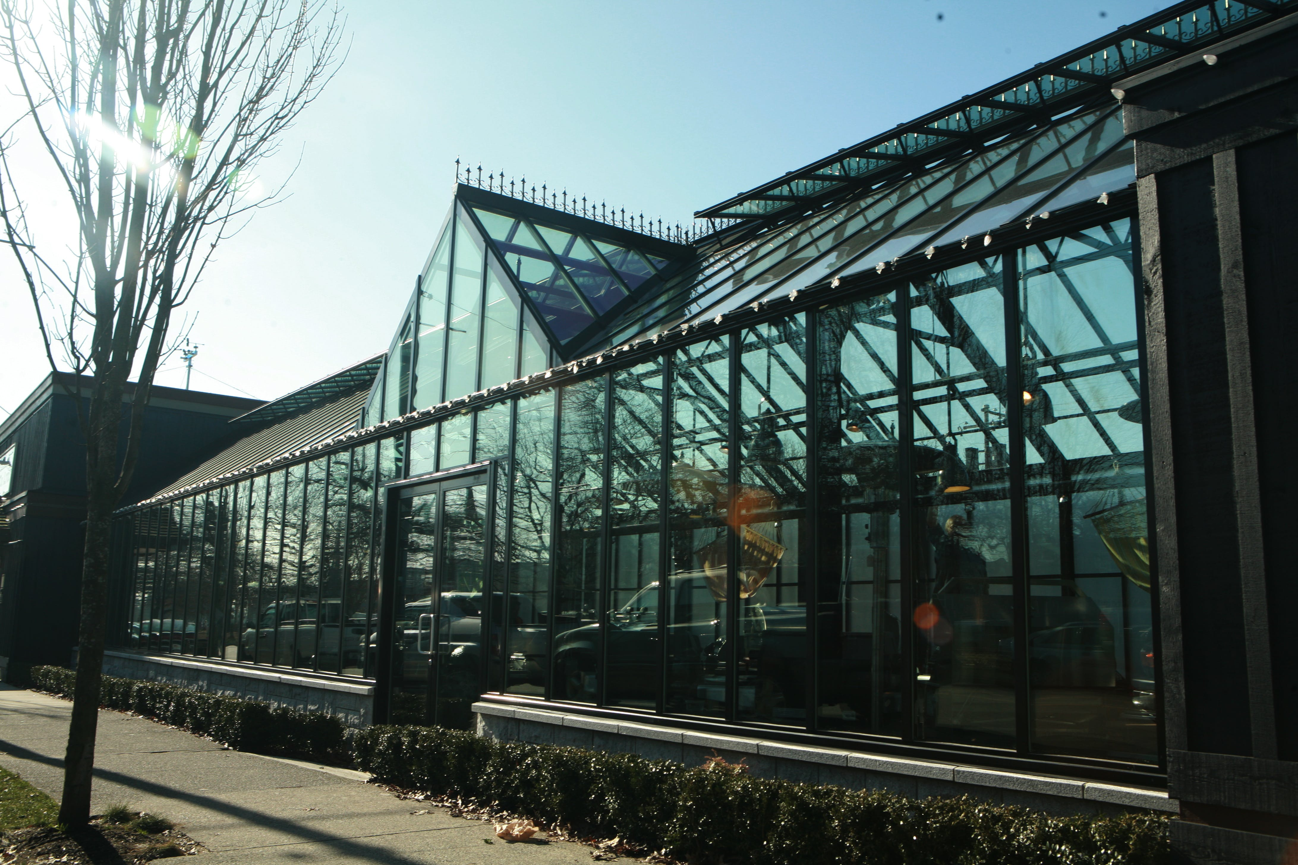 Retail Commercial Greenhouse in Vancouver, BC - Cross Country Greenhouses - sold by BC Greenhouse Builders Ltd.