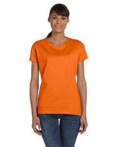 L3930R Fruit of the Loom Ladies' 5 oz., 100% Heavy Cotton HD® T-Shirt Promotional shirt sold by Lee Marketing Group