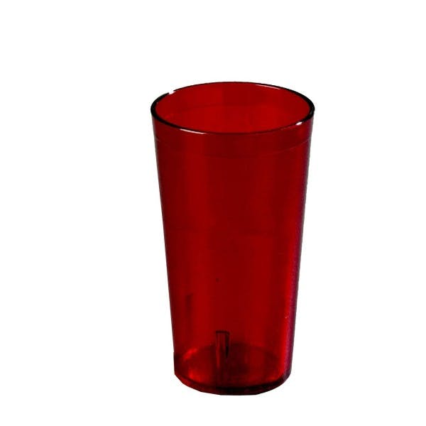 16 oz. Ruby Red Plastic Pebbled Stacking Tumbler