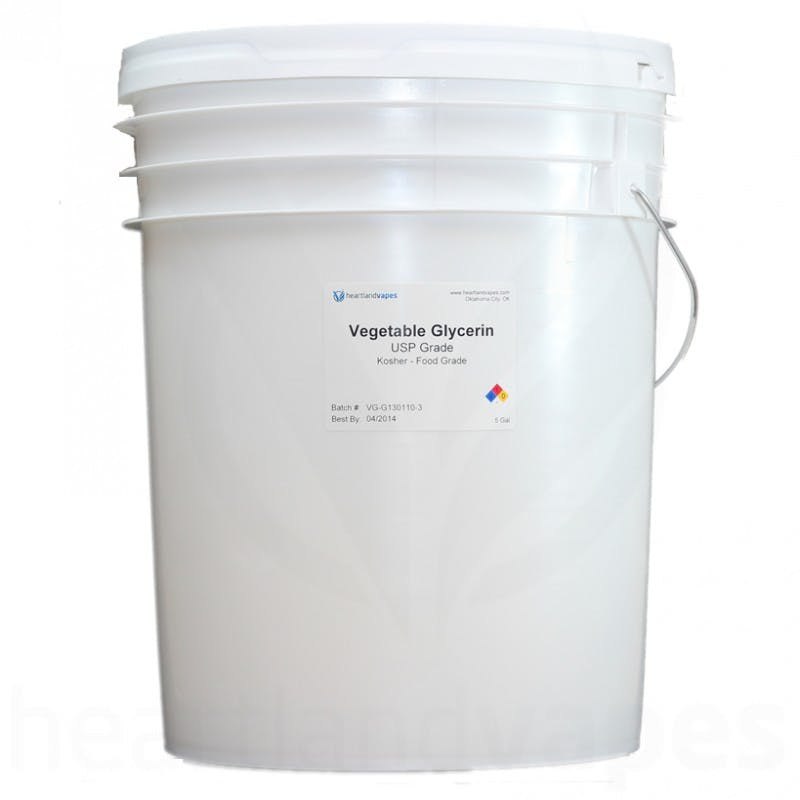 Vegetable Glycerin - USP Kosher - 5 Gallon Pail Vegetable glycerin sold by Heartland Vapes LLC