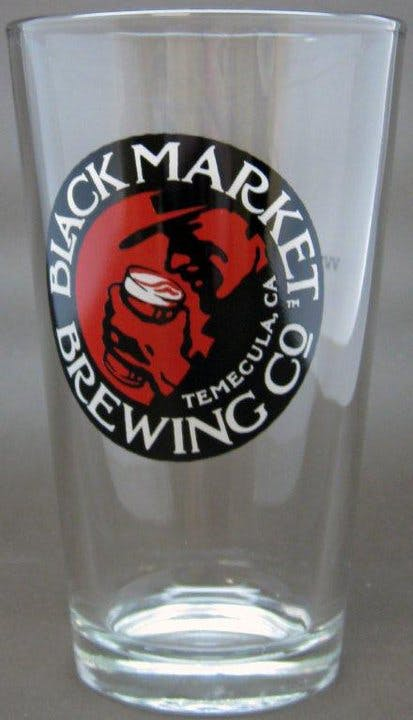 16oz pint 3 color print Beer glass sold by Brew Pack Products
