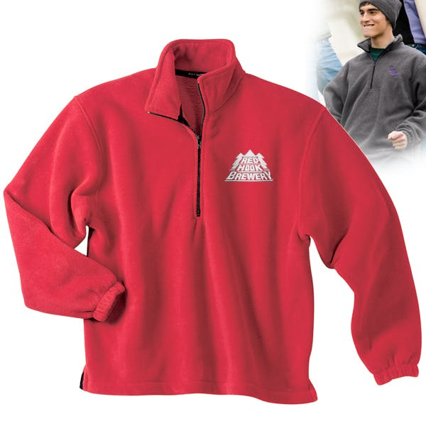 R-Tek Fleece 1/4 Zip Pullover Promotional apparel sold by MicrobrewMarketing.com