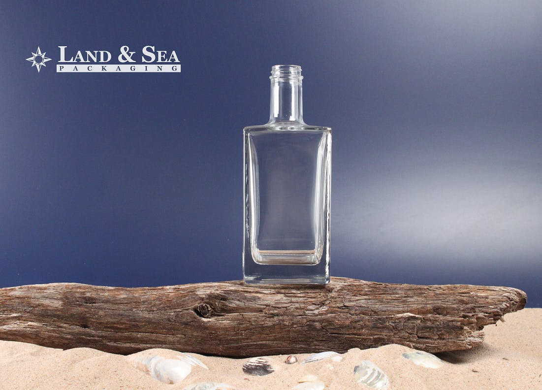 Qbic Spirit Bottle Liquor bottle sold by Land & Sea Packaging