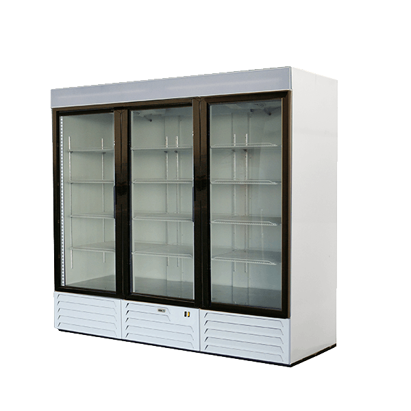 ARMD-72 Asber, triple glass door Merchandiser Refrigerator Commercial refrigerator sold by Easy Refrigeration Company