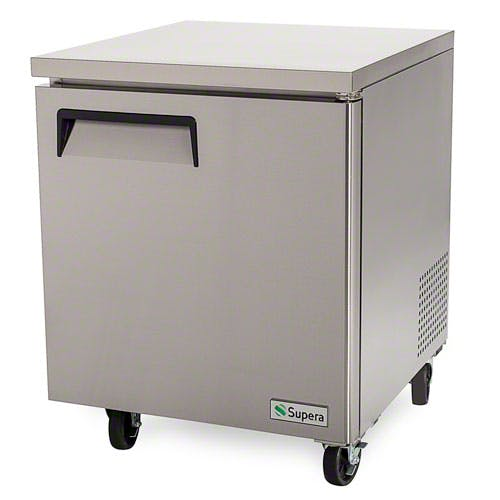 "Supera ( UF1R-1 ) - 27-1/2"" 1-Door Undercounter Freezer Commercial freezer sold by Food Service Warehouse"