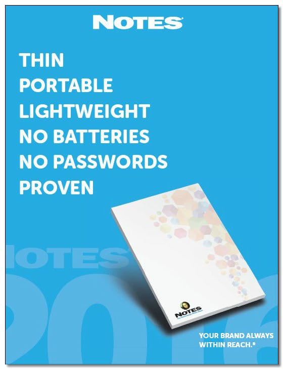 Notepads with or with no adhesive Promotional Paper Product sold by Worldwide Ticket and Label