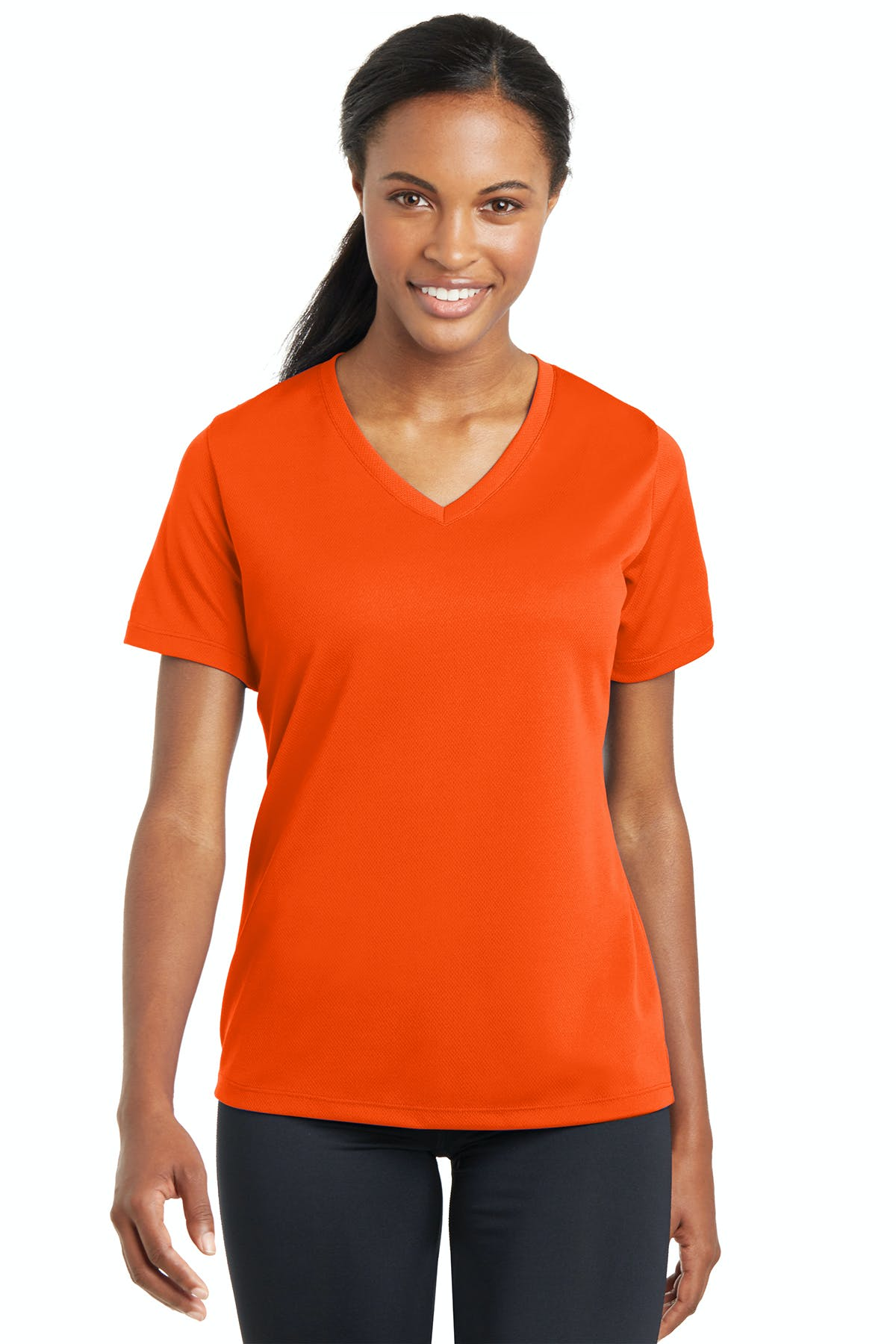 Sport-Tek® Ladies PosiCharge® RacerMesh® V-Neck Tee