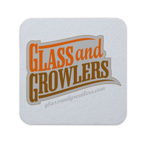 Full Color Square Coasters (Light Weight 35pt) | Glass and Growlers Drink coaster sold by Glass and Growlers