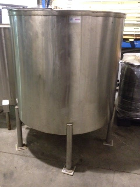 SS Single wall tank with mixer - 1500 liters (396 gallons) Mixing tank sold by Aevos Equipment