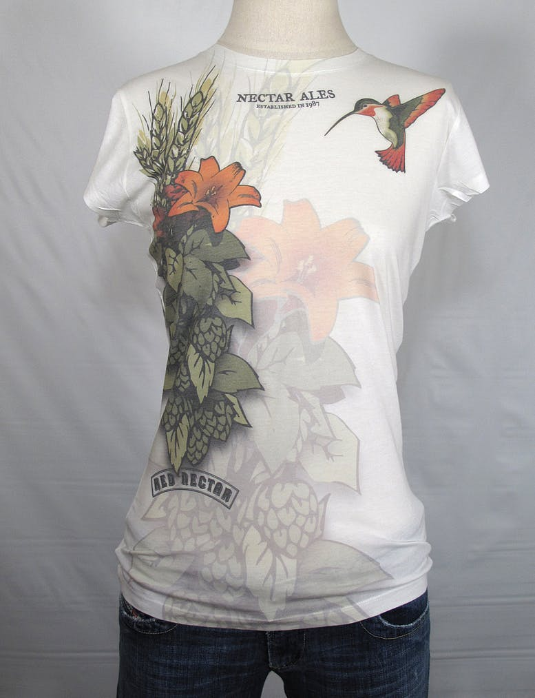 LADIES sublimation tee - Nectar Ales Promotional shirt sold by Brewery Outfitters