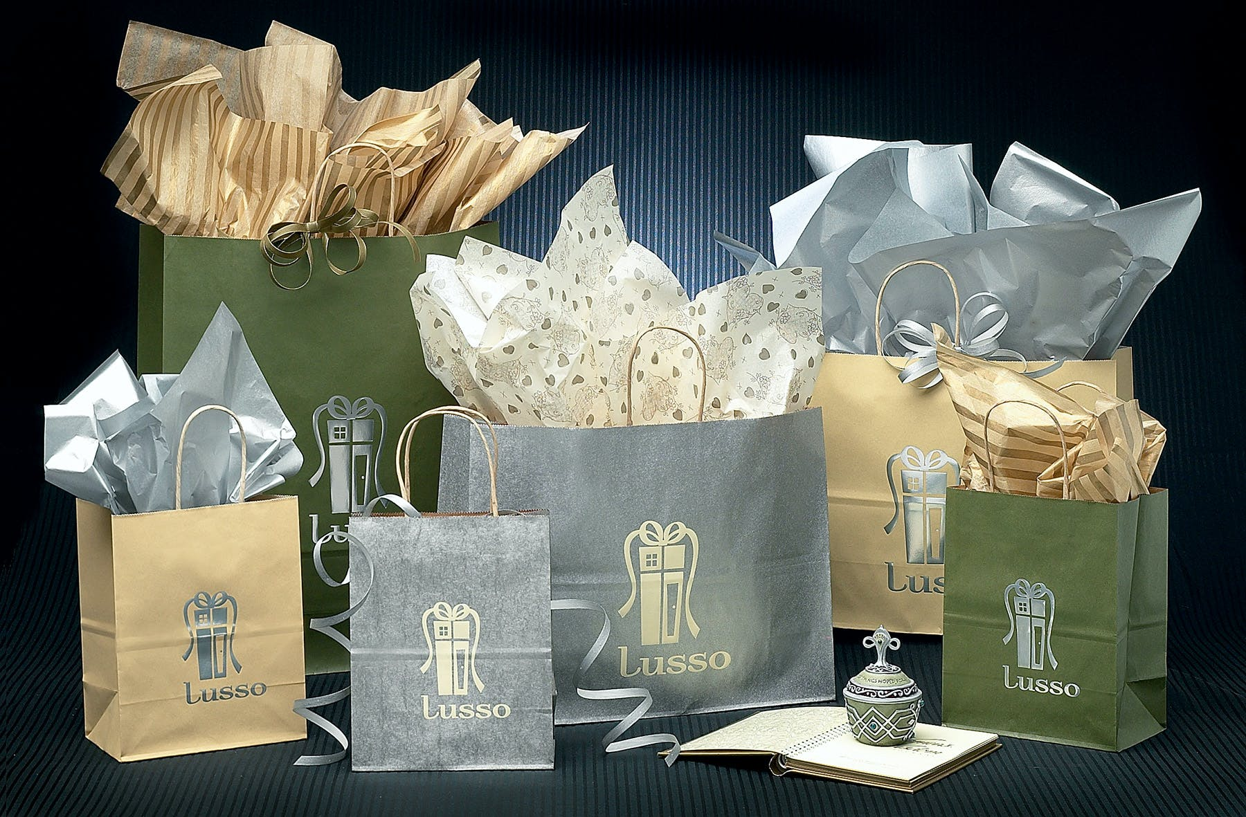 Metallic Tint Shopping Bags - Paper Shopping Bags - sold by Howard Packaging