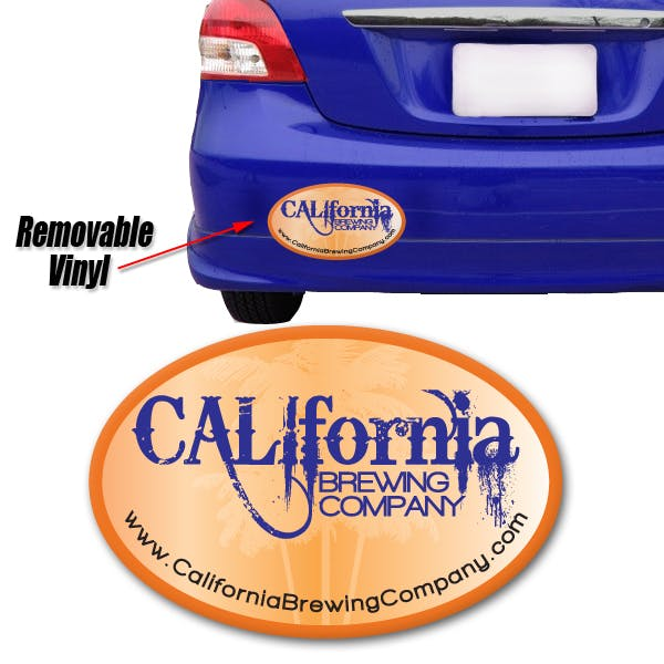 "Full Color Removable Bumper Sticker: Oval 4""x6"" Promotional sticker sold by MicrobrewMarketing.com"