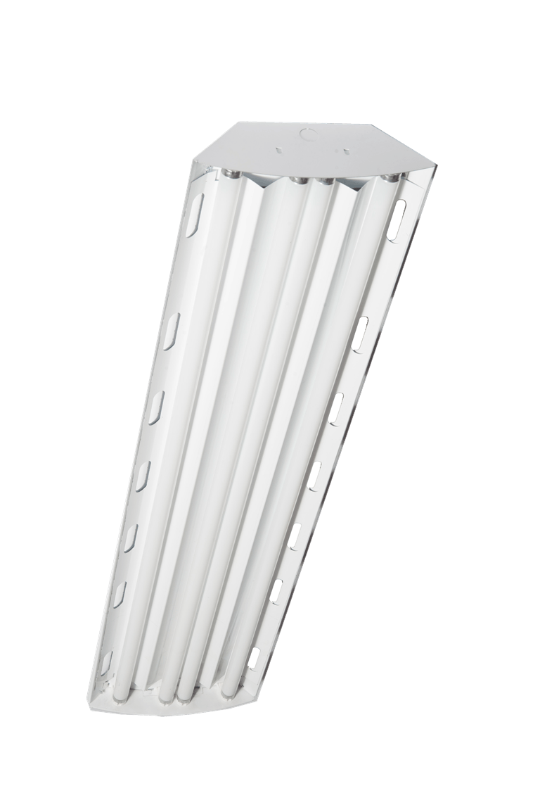 6 Lamp T5HO Premier Fluorescent Full Body High Bay With Enhanced White - sold by RelightDepot.com