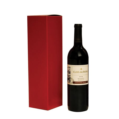 1 Bottle Wine Box - RED Wine box sold by Pak-it Products