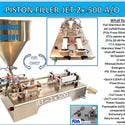 PISTON FILLER JET 2x-500 A/O - Filling machine sold by Pro Fill Equipment