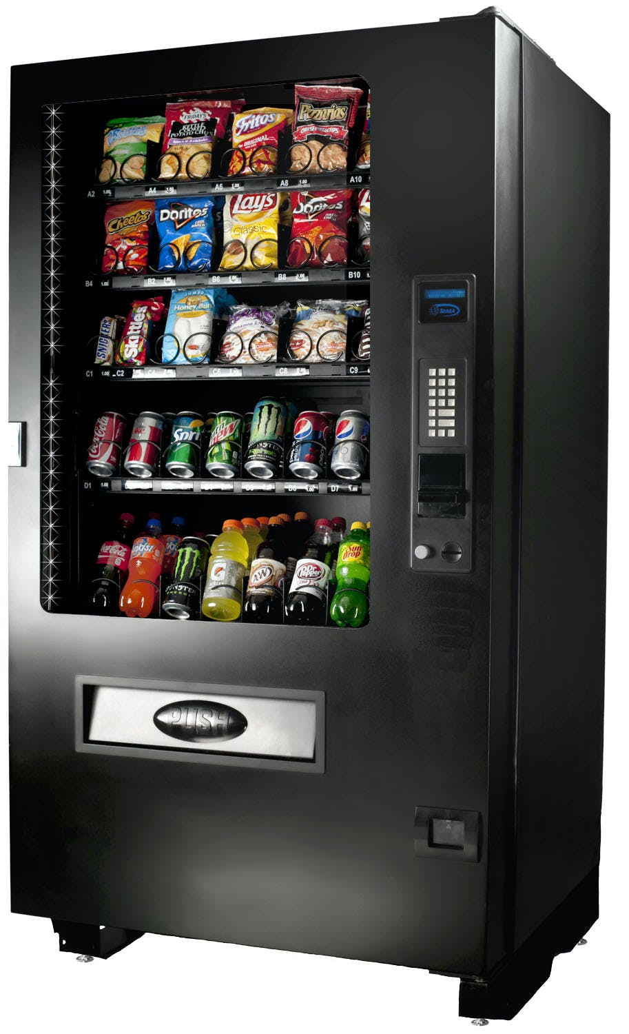 Shermco model 8 combo vending machine Vending machine sold by Shermco Vending